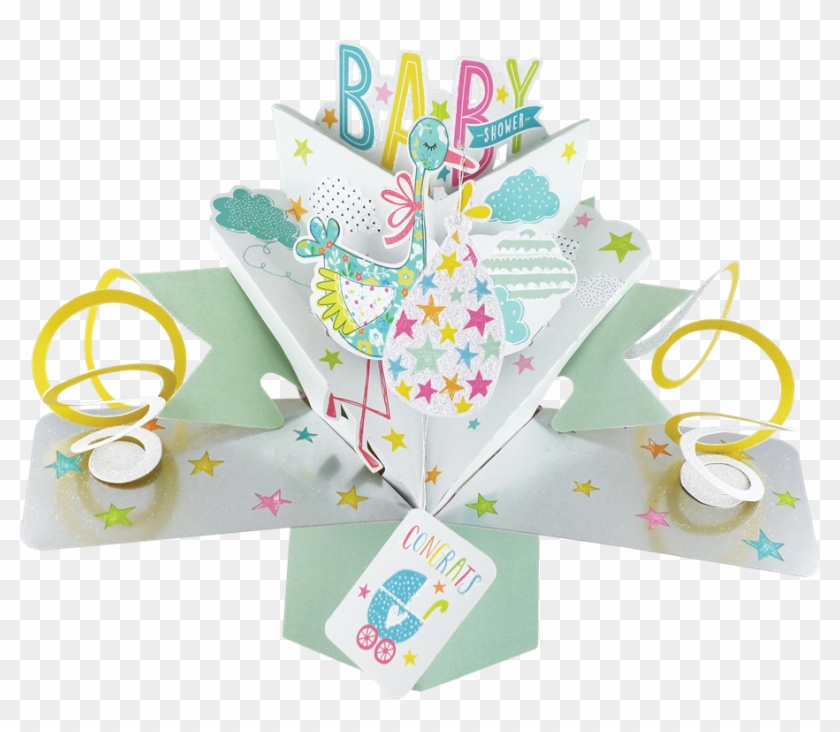 Baby Shower Pop-up Greeting Card - Second Nature Pop Up Baby Shower ...