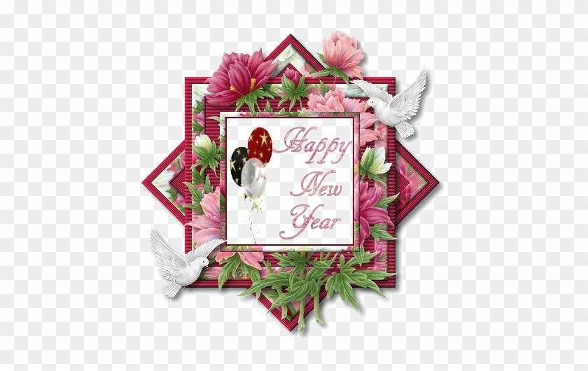 Animated New Year Greetings Happy Holidays - Happy New Year Flower #1022146