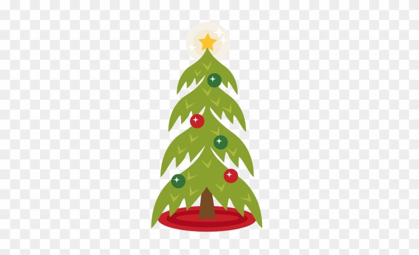 Christmas Tree Scrapbook Clip Art Christmas Cut Outs - Christmas Tree #1022620