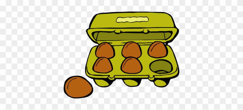 Breakfast Eggs Sunny Side Up - Carton Of Eggs Clipart #1022718