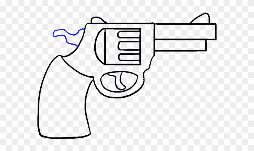 How To Draw A Cartoon Revolver In A Few Easy Steps Easy To Draw Gun Free Transparent Png Clipart Images Download