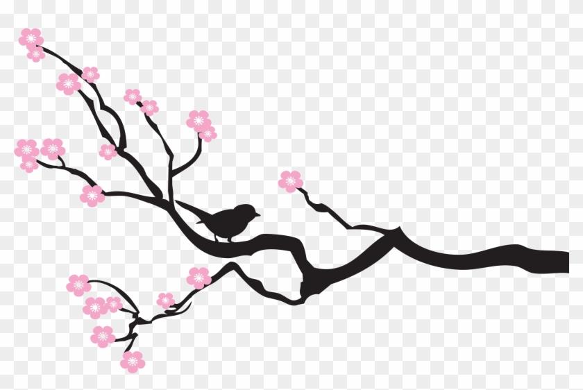 Cherry Blossom Tree Branch Template Faith Alliance Bird On A