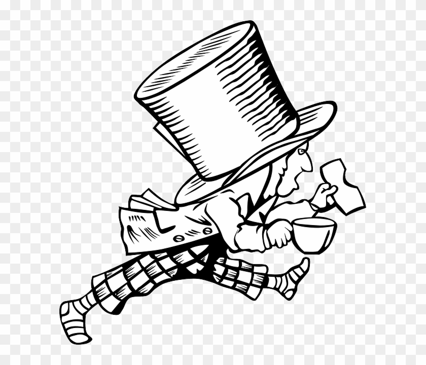 Free Image On Pixabay Alice And Wonderland Clip Art Black And White Free Transparent Png Clipart Images Download