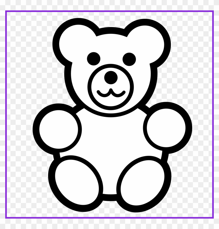 Inspiring For U Baby Toys Clipart Black And White Clip - Teddy Bear Coloring Page #1023990