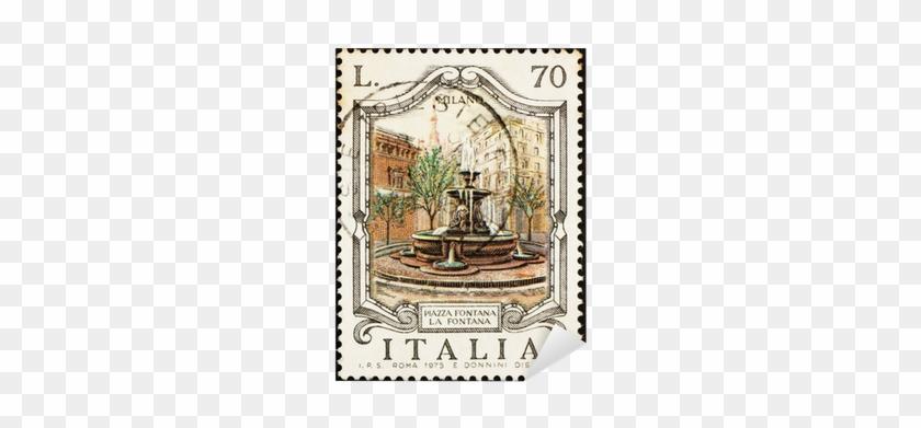 Postage Stamp Italy 1975 Piazza Fontana, Milan, Italy - Fuentes Monumentales De La Historia #1024330