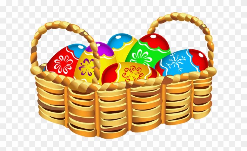 Publicat De Eu Ciresica La - Easter Egg Basket Clipart #1024902