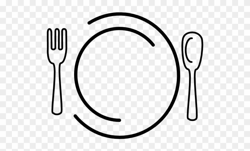 Dinner Plate Clip Art At Clker Com Vector Clip Art - Plate Fork And Knife Clipart #1025126