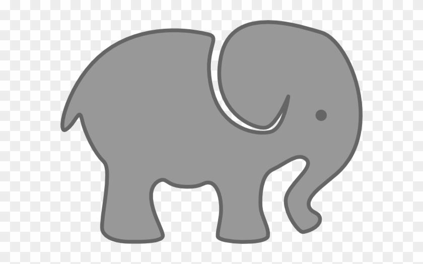 Gray Elephant Clip Art At Clker - Clip Art Elephant Svg #1025689