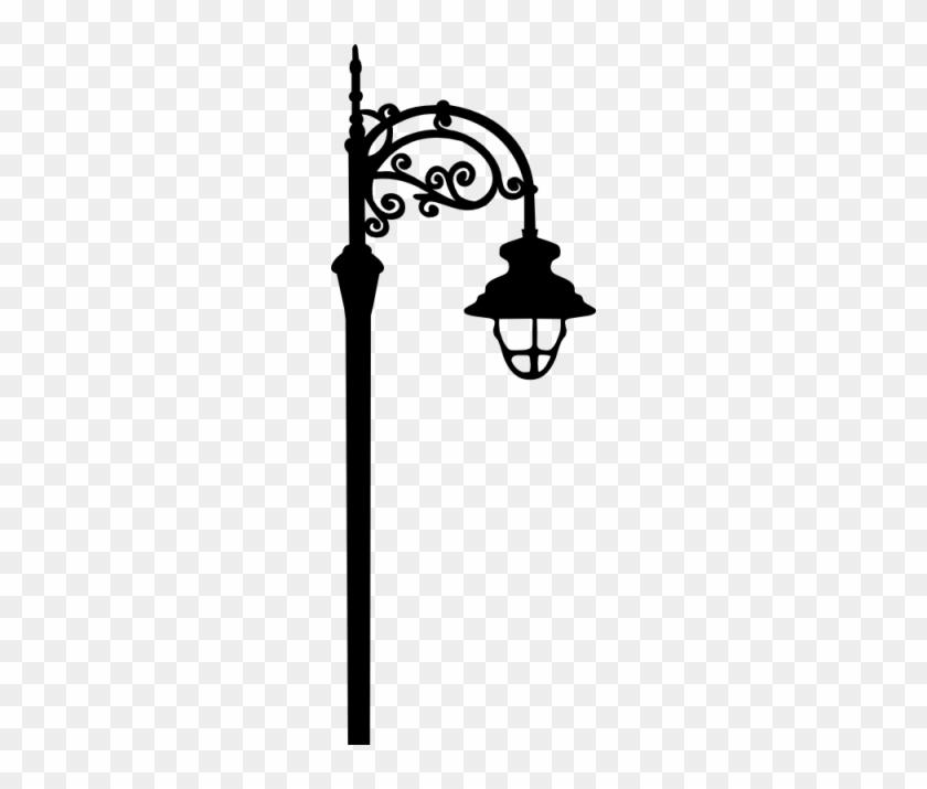 Flourish Street Lamp Svg - Street Lamp Silhouette #1026500