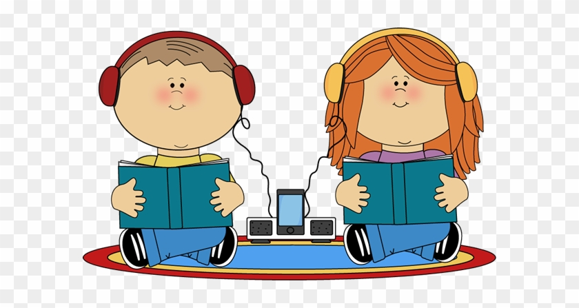 School Kids On Rug Listening To Books - Listen To Reading Clipart #1026870