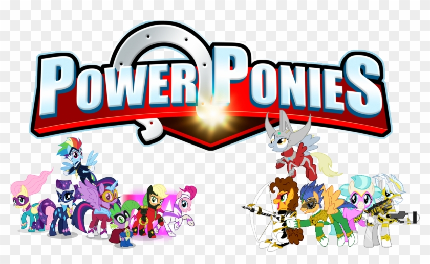 Crossover, Derpy Hooves, Double Diamond, Dragon, Fluttershy, - Power Rangers Mane 6 #1026963