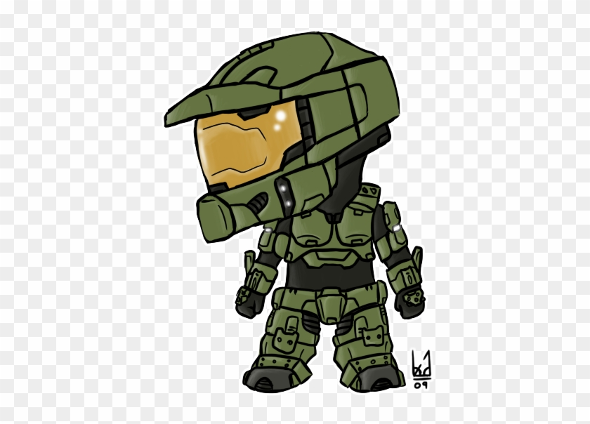 Master Chief Chibi By Blue - Cartoon Halo Master Chief #178531