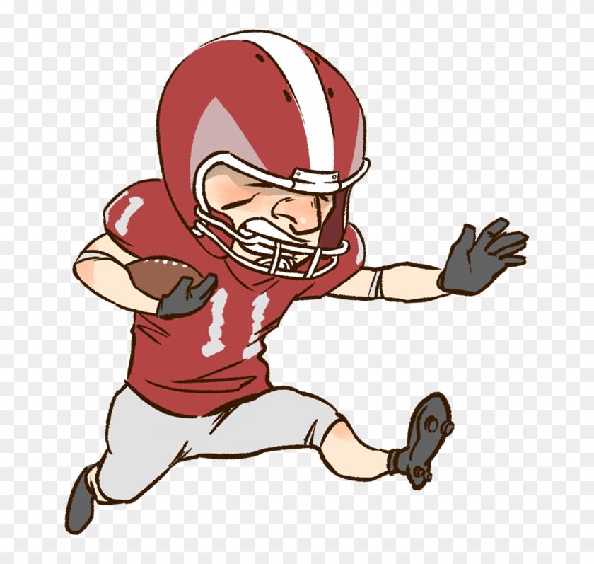 Cartoon Football Clipart - Cartoon Football Player Png American #178586