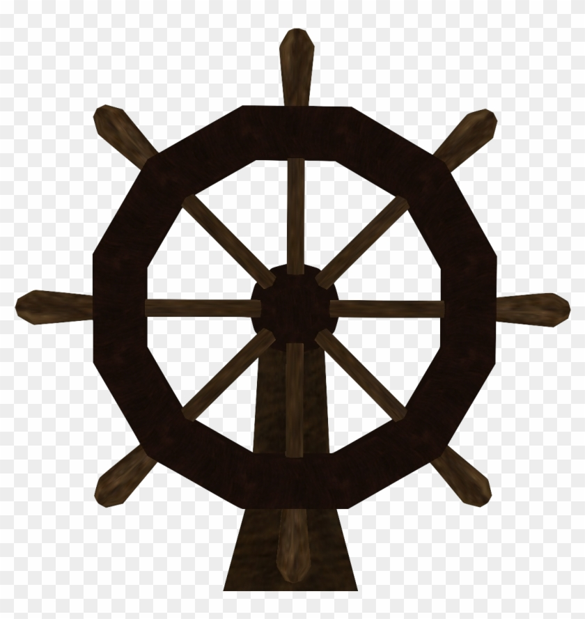 Sailing - Pirate Steering Wheel Png #178766