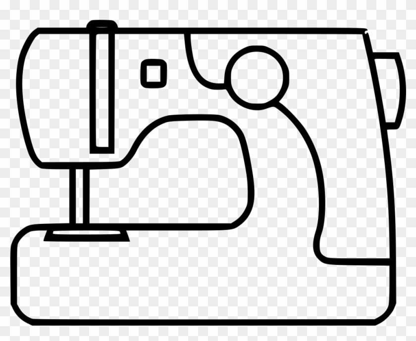 Png File - Sewing Machine Coloring Page #178793