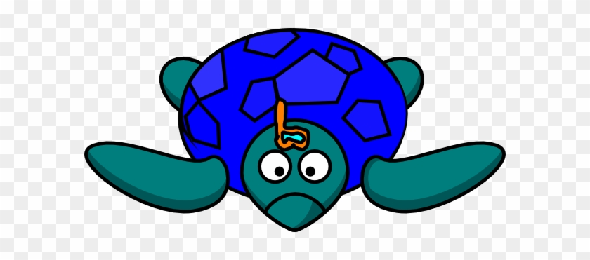 Turtle Clipart Blue And Green - Green Sea Turtle Drawings #178835