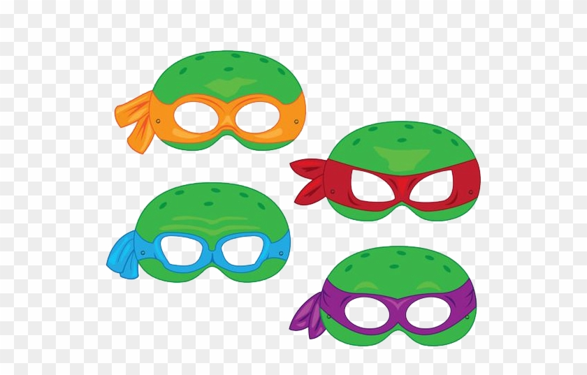 Ninja Turtles Mask Clipart By Darkadathea - Superhero Mask Template ...