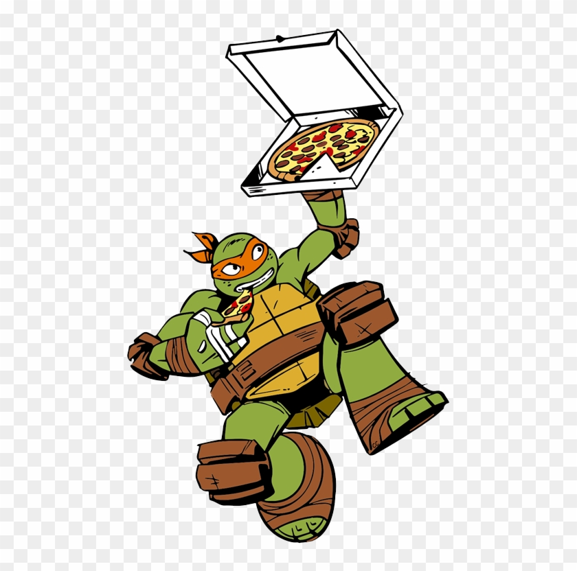 Pizza Clipart Teenage Mutant Ninja Turtles - Ninja Turtles Michelangelo Pizza #178931