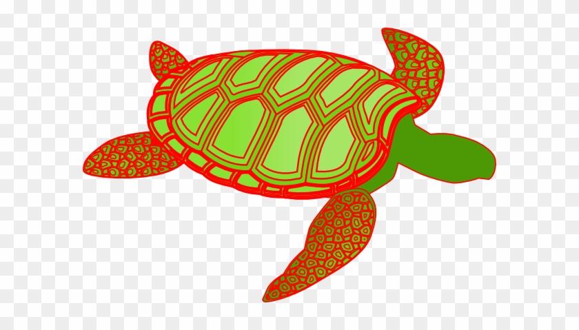 Red - Sea Turtle Clip Art #178966