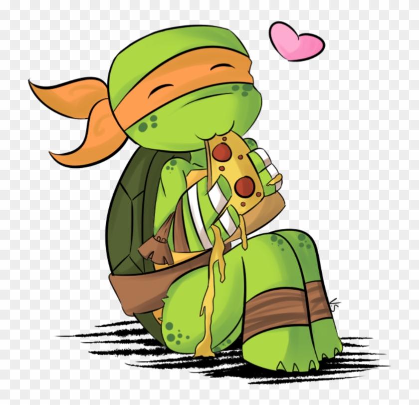 Pizza Love By Valorie-sonsaku - Ninja Turtles Mikey Pizza #179015