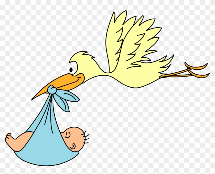 Newborn Baby Clipart - Cigueña Dibujos Para Colorear - Free ...