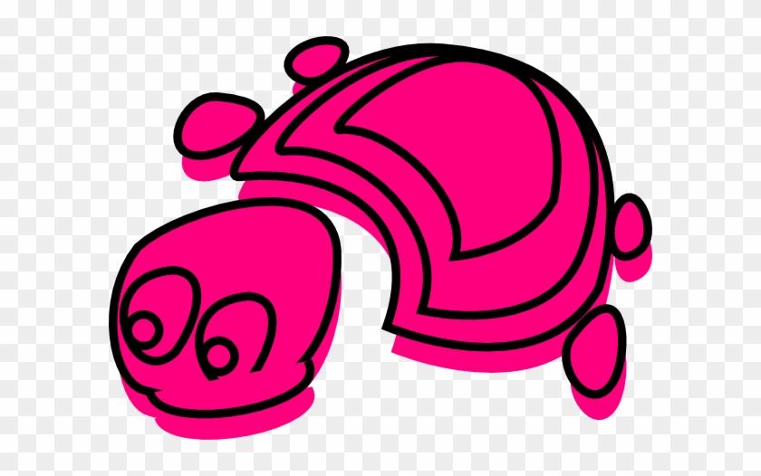 Small Pink Tortoise Clip Art - Pink Tortoise #179143