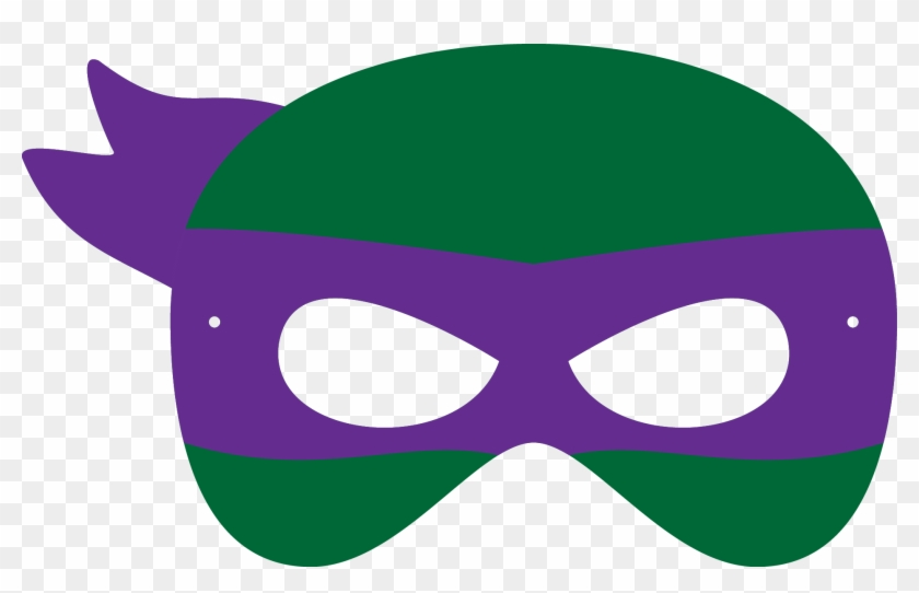 Geeky image inside printable ninja turtles mask