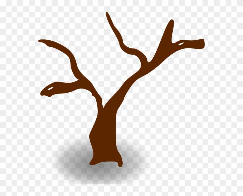 Free Vector Rpg Map Symbols Deserted Tree Clip Art - Tree Clip Art #179432