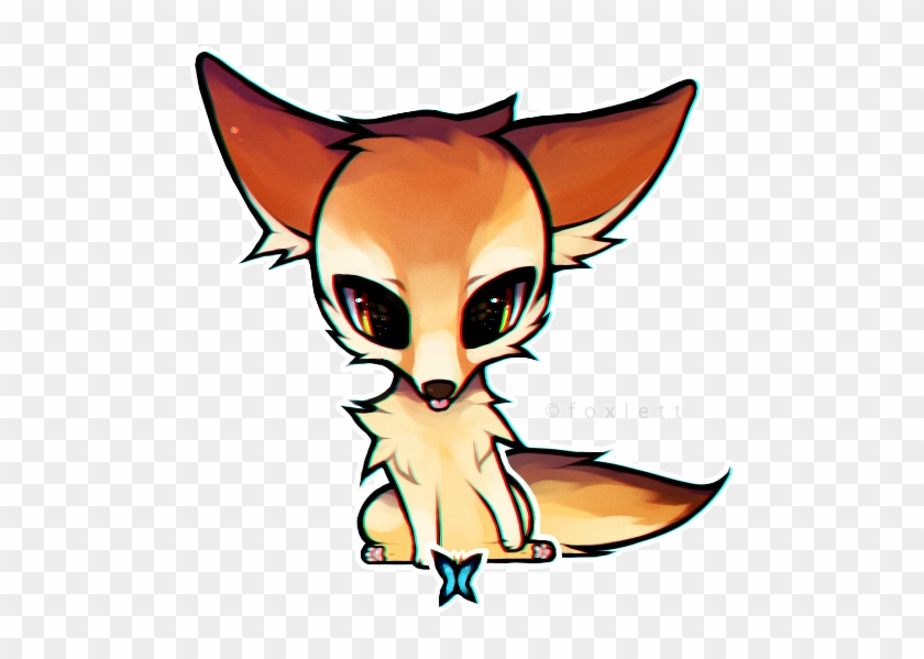 Fennec Fox By Foxlett On Deviantart Baby Fennec Fox - Chibi Fennec Fox Drawing #179504