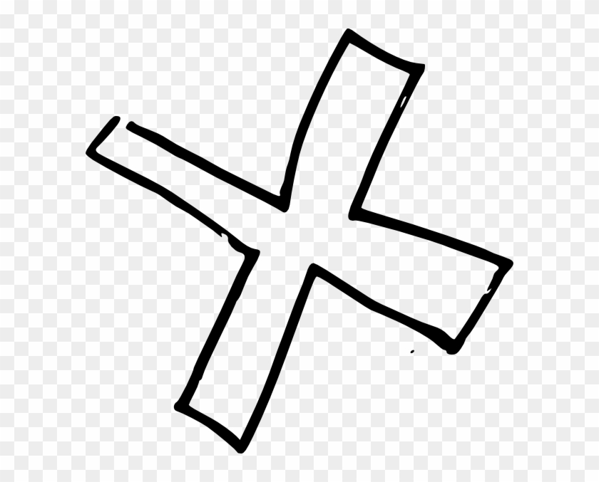 X Cross Product Clip Art At Clker - Cross Out Clipart Black And White #179656
