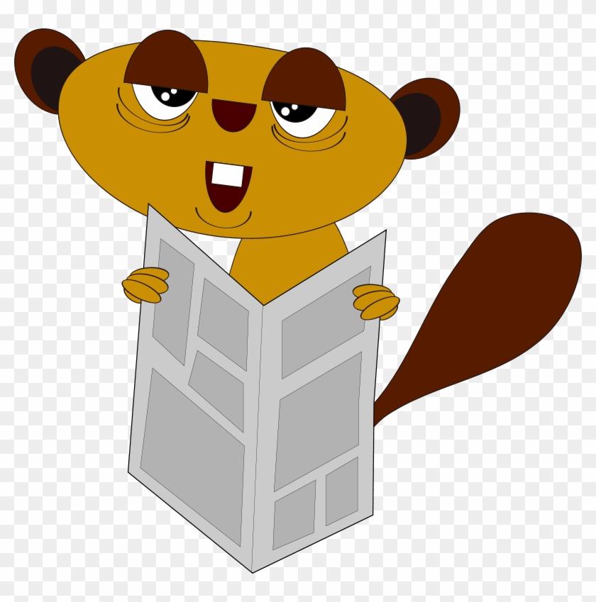 Free Newspaper Dude - Dog Reading Newspaper Png #179658