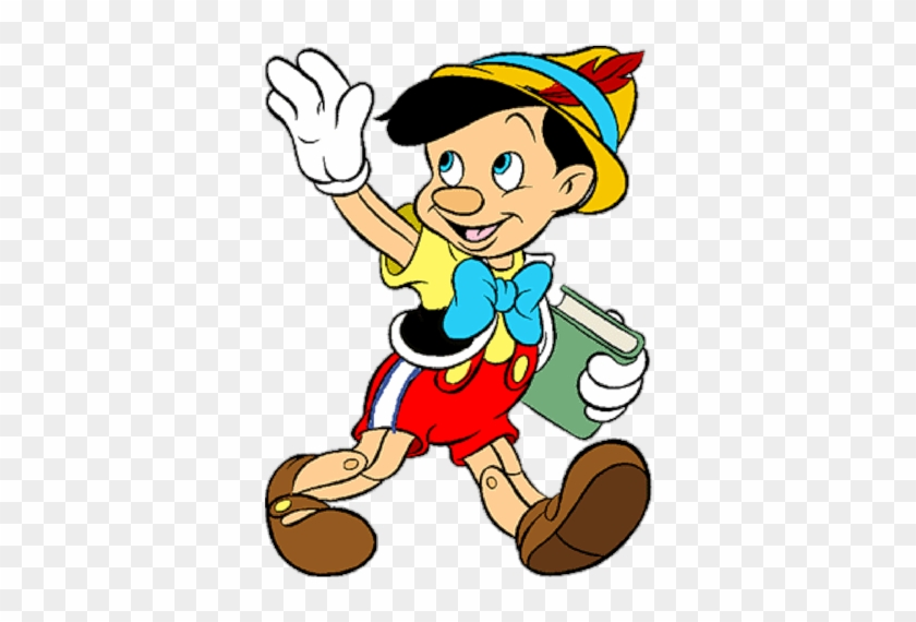 Резултат С Изображение За Desenho Do Pinóquio Colorido - Pinocchio Going To School #179838