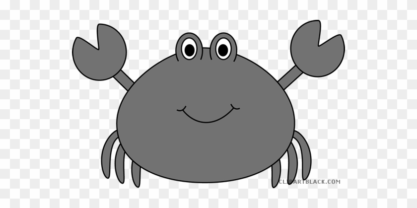 Cute Crab Animal Free Black White Clipart Images Clipartblack - Sea Animals Counting Puzzle #180007