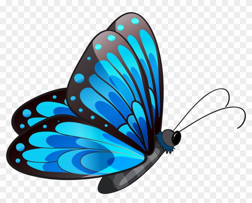 Transparent Blue Butterfly Png Clipart Flying Butterfly Clip Art