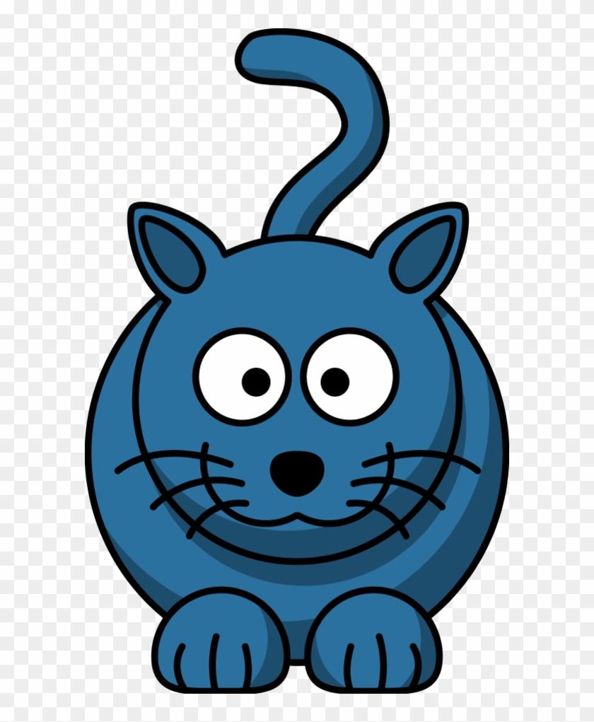 Blue Kitten Cliparts - Custom Cartoon Cat Shower Curtain #180147