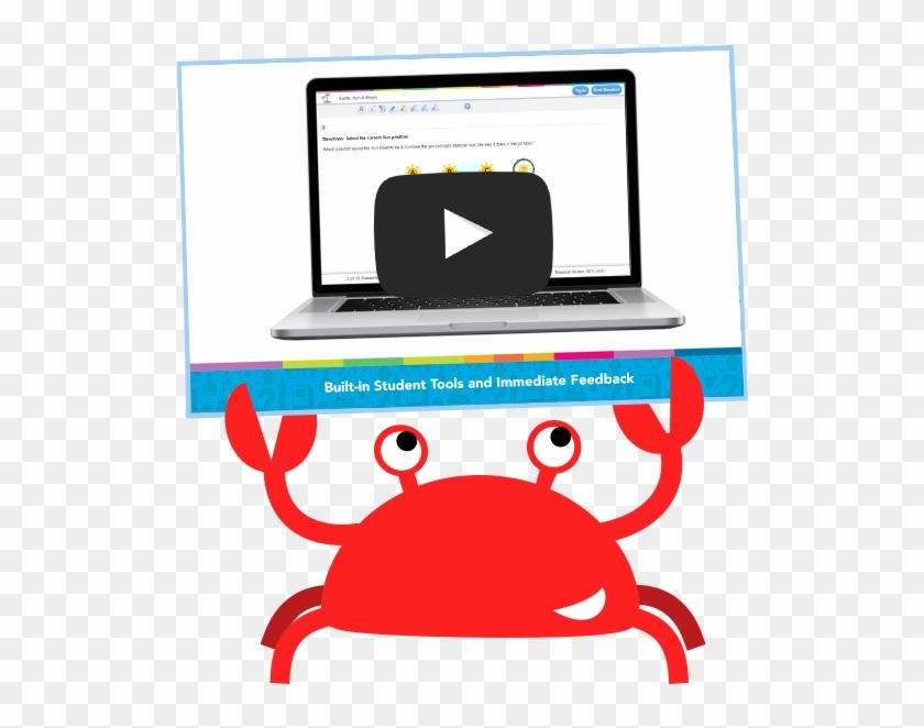 Practice California Students And Educators Love - Study Island Crab Gif #180265