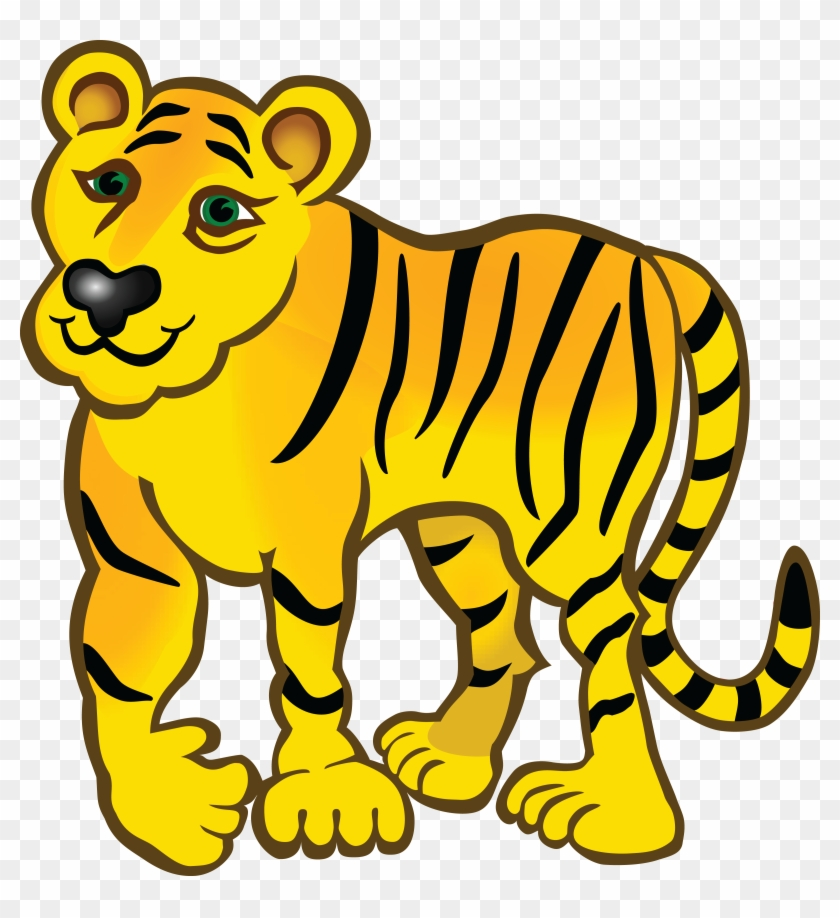 Free Clipart Of A Tiger - Tiger Yellow #180294