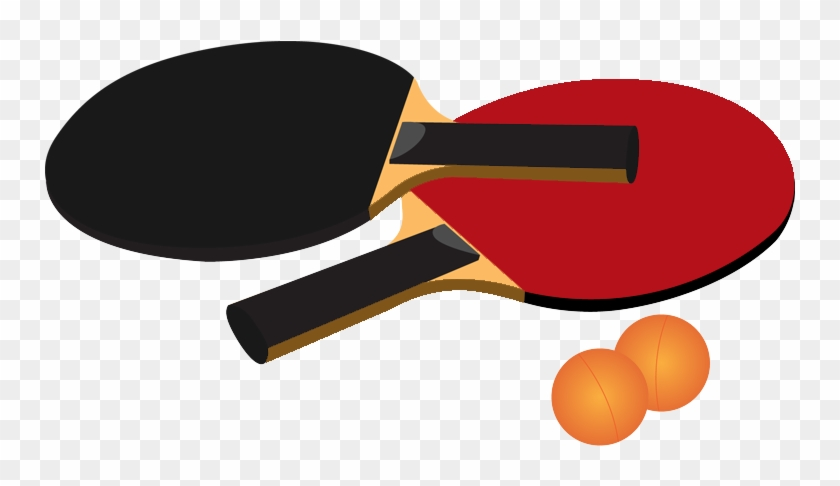 Table Tennis Clipart Image Of Playing Table Tennis - Table Tennis Clip Art #180314