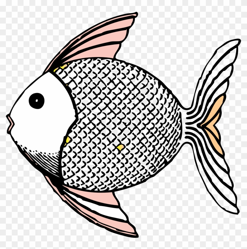 Drawing Clipart Fish Line - Tropical Fish Shower Curtain #180354