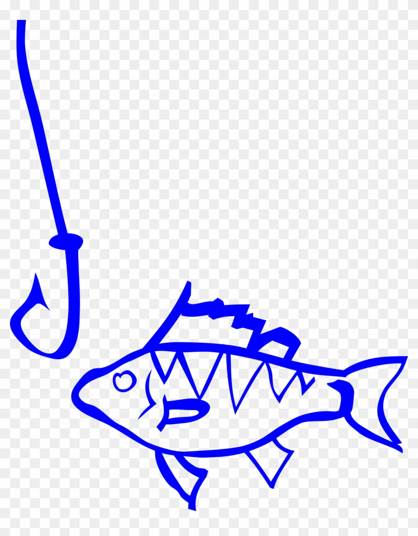 Fishing Hook And Line Clipart - Red Fish And Hook Shower Curtain #180532