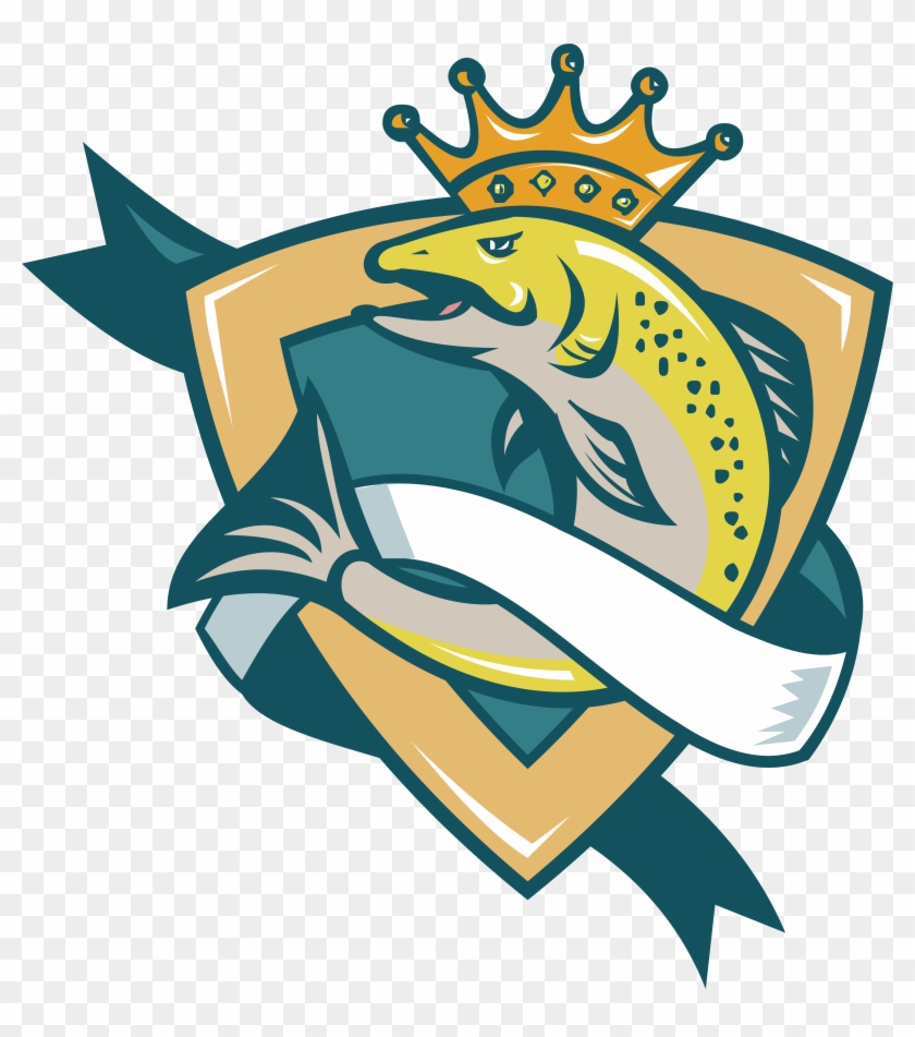 Chinook Salmon Stock Photography Illustration - King Salmon With A Crown #180575