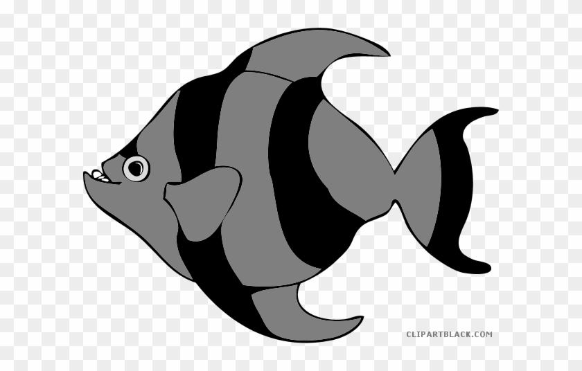 Tropical Fish Animal Free Black White Clipart Images - Large Pictures Of Cartoon Fish #180609