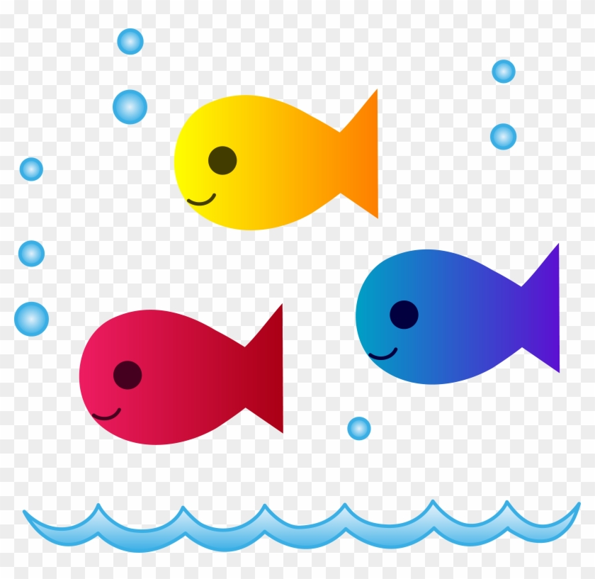 Cute School Of Fish Swimming - School Of Fish Drinking Glass #180739