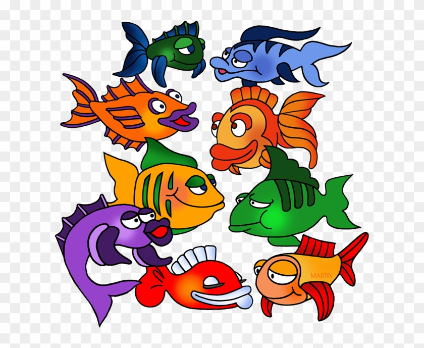 School Of Fish - Phillip Martin Clipart Fish #180742