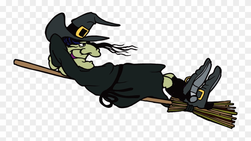 Witch Clipart - Witch Flying On Broom Gif #180955