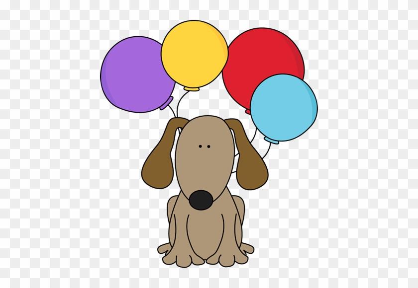 Dog With Balloons Clip Art - Dog Birthday Clip Art #181072