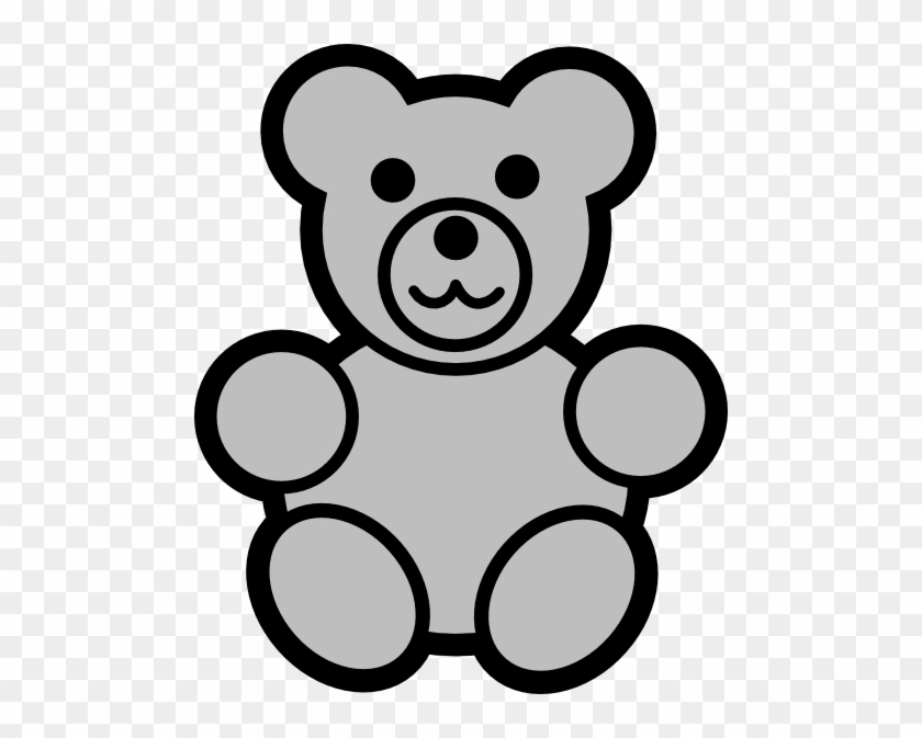 Gray Bear Clip Art Teddy Bear Coloring Page Free Transparent Png