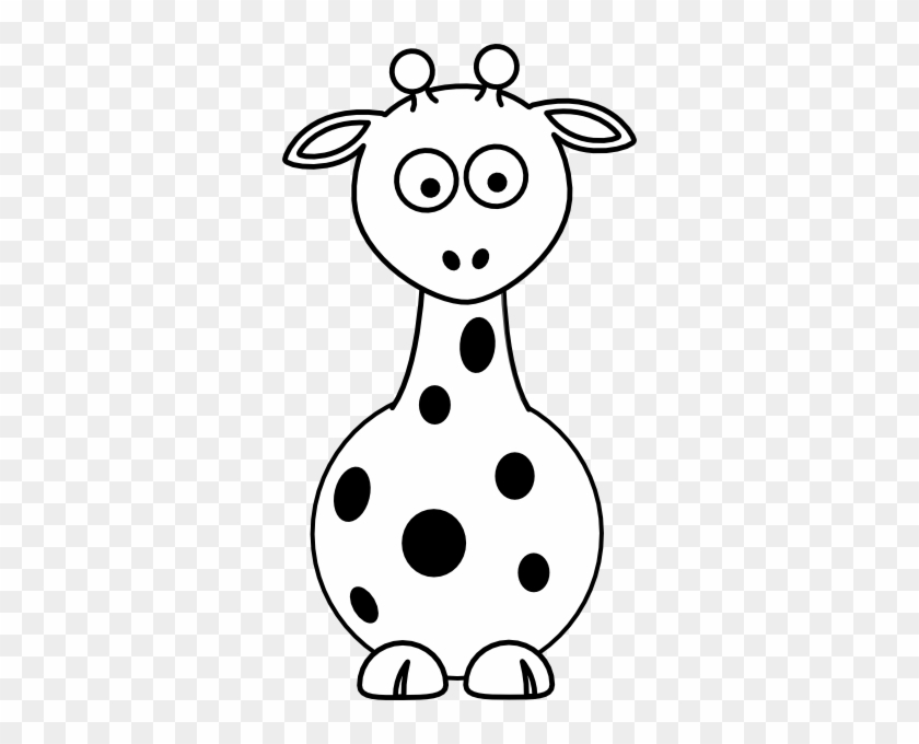 Cute Giraffe Clipart Black And White - Baby Giraffe Clipart Black And White #181124