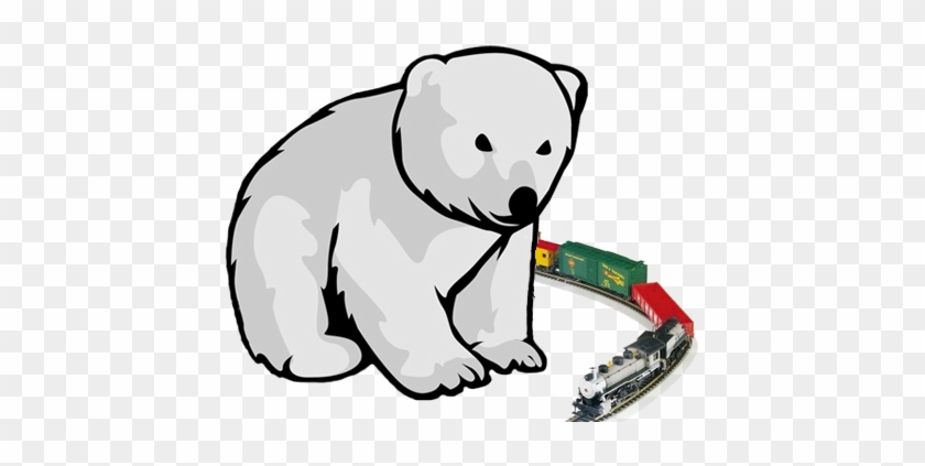 Bear Train Show Polar Bear Cub - Cartoon Polar Bear Cub Transparent #181133