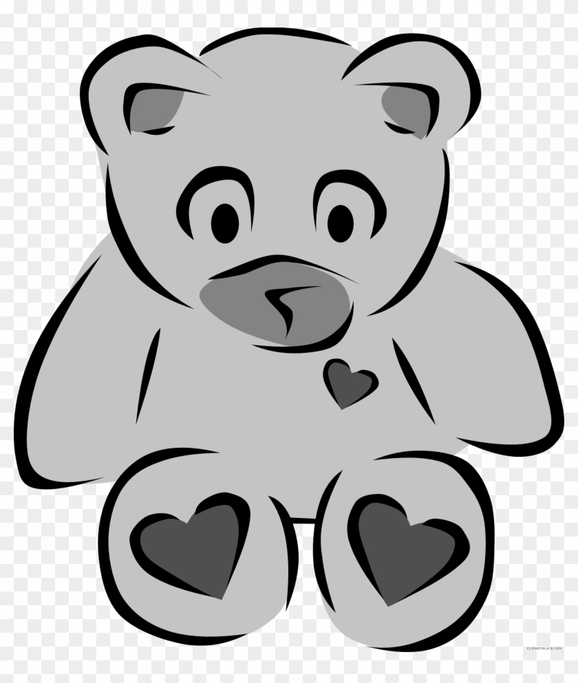 polar bear animal free black white clipart images clipartblack rh clipartmax com teddy bear clipart black and white grizzly bear clipart black and white